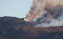 L'incendie du Col de Salvi a déjà ravagé une trentaine d'hectares de maquis et chênes