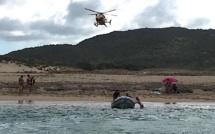 Sartene :  sauvetage sur la plage de l'Avena