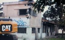 Démolition du restaurant Les Tamaris sur le domaine maritime de Porticcio