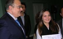 Le prix Andria Fazi remis à 4 jeunes lycéens par Paul Giacobbi