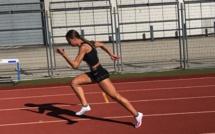 Morgane Cleret (CA Bastia) deuxième sprinteuse française