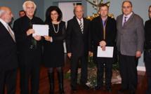 Les lauréats du prix de la Collectivité territoriale récompensés