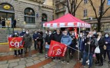 A Ajaccio, la CGT dénonce la précarité à La Poste