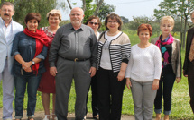 Six proviseurs russes au lycée agricole de Borgo