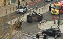 Bastia : Une voiture sur le toit à Saint Joseph