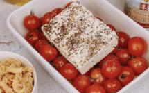 A table : Pâtes a la fêta et tomates cerise rôties avec... la Petite Cuisine de Marie