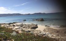 La photo du jour : une petite crique entre Calvi et Lumiu