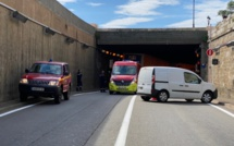 Le tunnel de Bastia fermé à cause d'un accident de la circulation