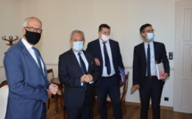 Les deux préfets de Corse en Balagne pour les signatures des conventions «Petites villes de demain»