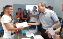 Bastia : Les stagiaires de l'e2c ont reçu leur ACA !