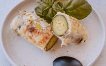 A table :  courgettes au jambon avec la petite cuisine de Marie