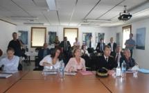 Nicole Bricq visite l'entreprise Corse Composites Aéronautiques