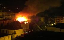 Ajaccio : Un immeuble du boulevard Scamaroni en flammes