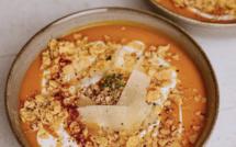 A table : Velouté de potimarron à la crème de coco et au curry avec... la petite cuisine de Marie
