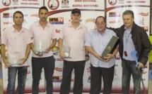 La remise des prix du 2e Open National de Pétanque de Calvi