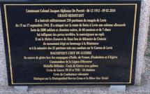 Propriano : Le savoir-marbrier pour le 70ème anniversaire de la Libération