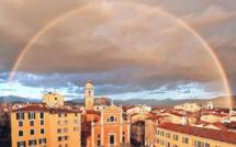 La photo du jour : arc-en-ciel au-dessus de la cathédrale d'Ajaccio