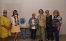 Les Sœurs de combat : Marylène, Nicole, Annick, Marie-France, Anne dans la nouvelle permanence