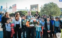 Les enfants de l'école de Lisula découvrent l'envers du décor du stade Armand-Cesari