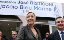 Marine Le Pen en visite à Ajaccio