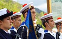 Hommage à tous les morts pour la France à Sarrola-Carcopino