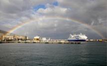 L'image du jour : Bastia dans un arc-en-ciel