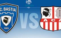Derby de Ligue 1 : Pas de supporters de l'ACA à Bastia