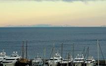L'image du jour : La Corse vue de San Remo