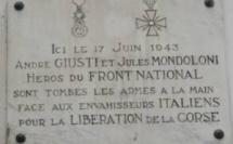 Cérémonie pour André Giusti et Jules Mondoloni à Ajaccio