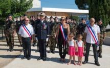 Cérémonie de présentation au drapeau des jeunes réservistes à Prunelli-di-Fium'Orbu