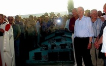 Evènements d'Aleria : La stèle du souvenir à l'effigie de la cave occupée