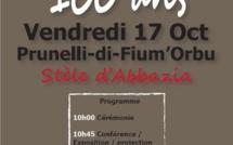 Prunelli-di-Fium'Orbu commémore le centenaire de la Guerre de 14-18
