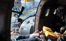 Propriano : Le super Puma de Solenzara évacue une passagère du Costa Diadema