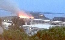 Incendie : 1 hectare brûlé sur le cordon lagunaire de la Marana