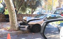 Voiture contre platane à Pietranera : Un blessé