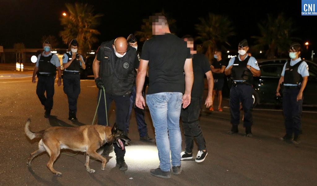 Contrôle drogue gendarmerie Ajaccio