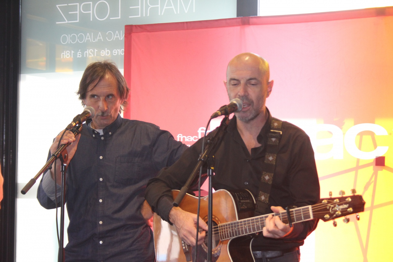 patrick fiori a la fnac Petru Guelfucci et Jean Charles Papi
