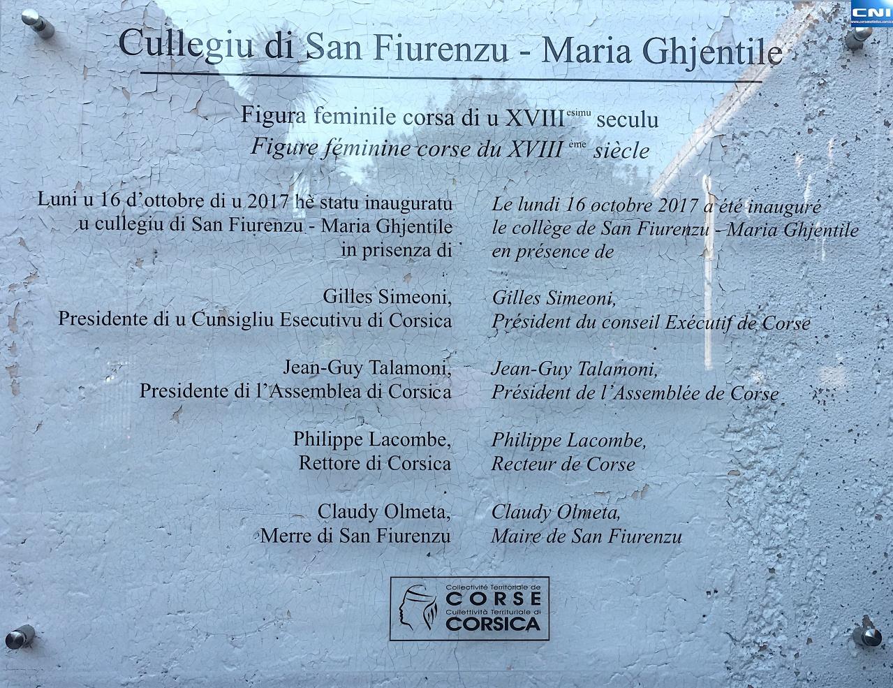Collège Maria Ghjentile